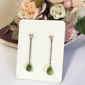 Gorgeous Vintage Glass Crystal Dangle Earrings